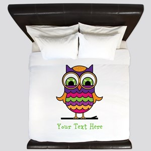 Customizable Whimsical Owl King Duvet