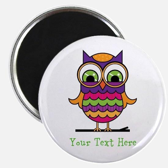 Customizable Whimsical Owl Magnet