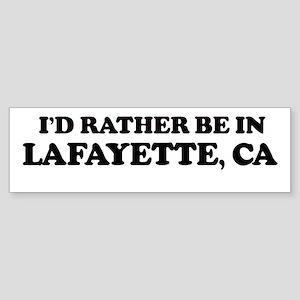 Rather: LAFAYETTE Bumper Sticker