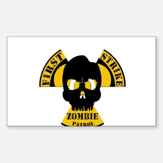 Radioactive Zombie Patrol Sticker (Rectangle)