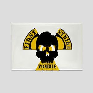 Radioactive Zombie Patrol Rectangle Magnet