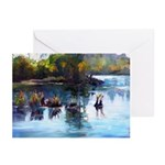 American River Afternoon Greeting Cards