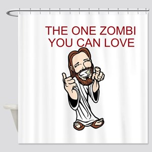 ZOMBIE CHRIST Shower Curtain