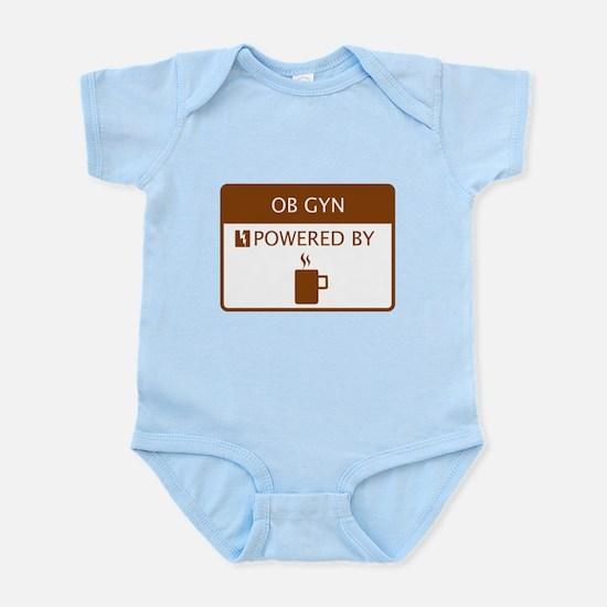 OB GYN Powered by Coffee Infant Bodysuit