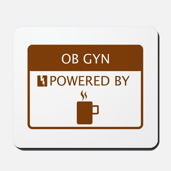 OB GYN Powered by Coffee Mousepad