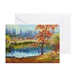 Autumn Lake Greeting Cards