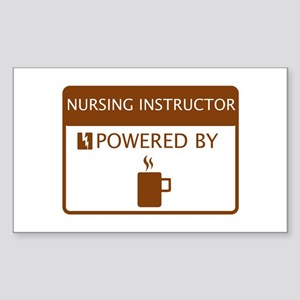 Nursing Instructor Powered by Coffee Sticker (Rect