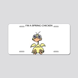 SPRING CHICKEN Aluminum License Plate
