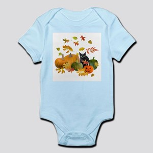 Black Cat Pumpkins Infant Bodysuit