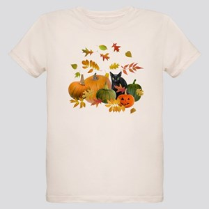 Black Cat Pumpkins Organic Kids T-Shirt