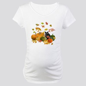 Black Cat Pumpkins Maternity T-Shirt