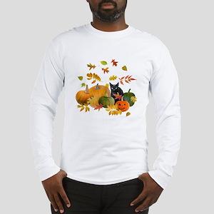Black Cat Pumpkins Long Sleeve T-Shirt
