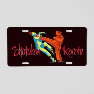 Aluminum License Plate, Shotokan front kick