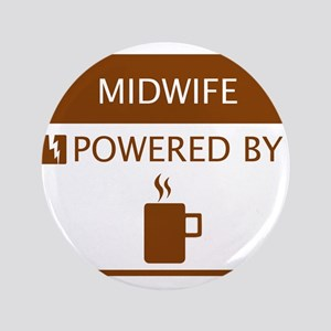 """Midwife Powered by Coffee 3.5"""" Button"""