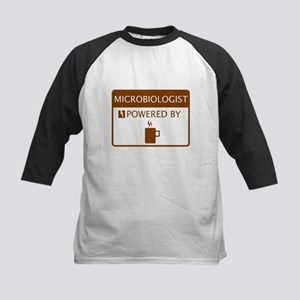 Microbiologist Powered by Coffee Kids Baseball Jer
