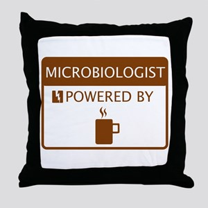 Microbiologist Powered by Coffee Throw Pillow