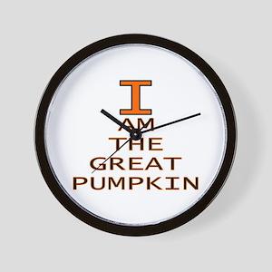 I am the Great Pumpkin Wall Clock