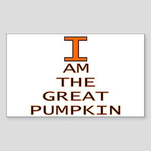 I am the Great Pumpkin Rectangle Sticker