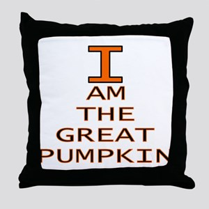I am the Great Pumpkin Throw Pillow
