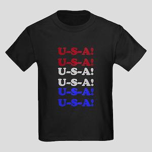 U-S-A! Kids Dark T-Shirt