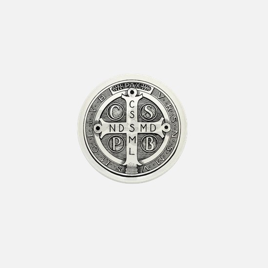 Medal of Saint Benedict Mini Button