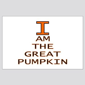 I am the Great Pumpkin Large Poster