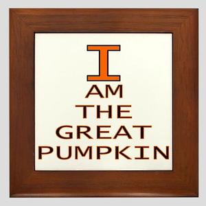 I am the Great Pumpkin Framed Tile