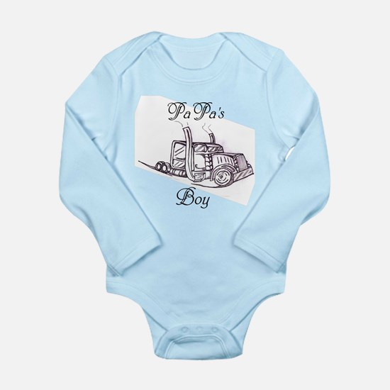 Papa's Boy Truck Long Sleeve Infant Bodysuit