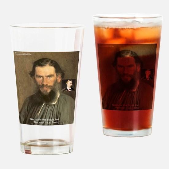 Leo Tolstoy On Nietzsche Quote Drinking Glass