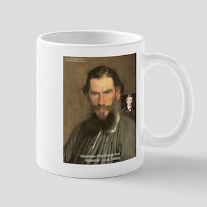 Leo Tolstoy On Nietzsche Quote Mug