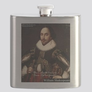 Shakespeare True Love Quote Flask