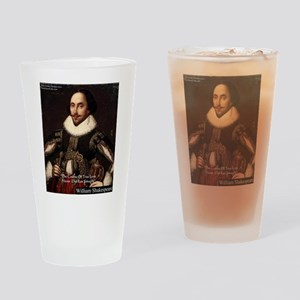 Shakespeare True Love Quote Drinking Glass