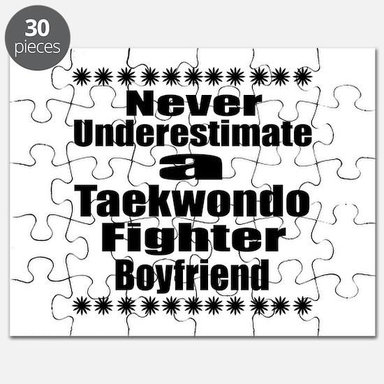 Never Underestimate Taekwondo Fighter Boyfr Puzzle