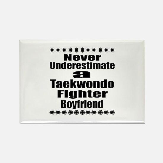 Never Underestimate Tae Rectangle Magnet (10 pack)