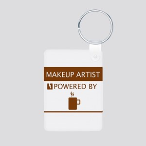 Makeup Artist Powered by Coffee Aluminum Photo Key
