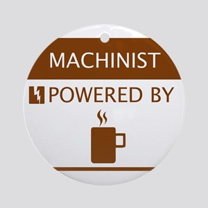 Machinist Powered by Coffee Ornament (Round)