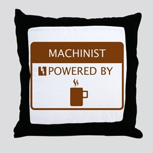 Machinist Powered by Coffee Throw Pillow