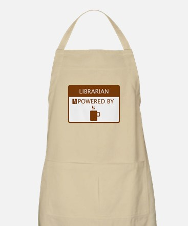 Librarian Powered by Coffee Apron