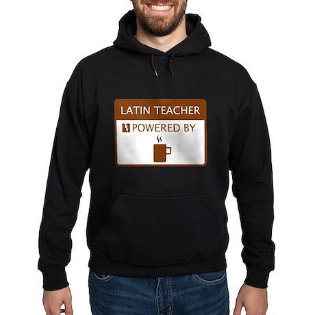 Latin Teacher Powered by Coffee Hoodie (dark)