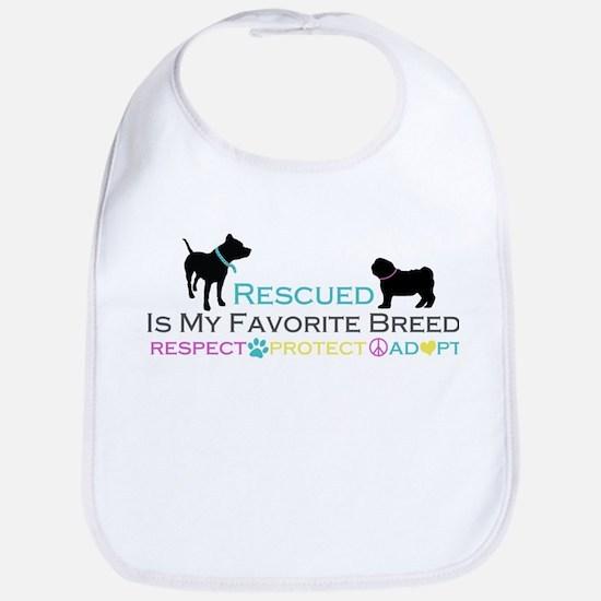 Rescued Is Favorite Breed Bib