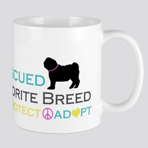 Rescued Is Favorite Breed Mug