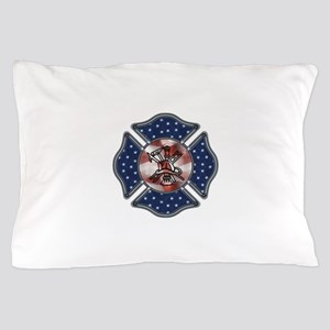 Patriotic Fire Dept Pillow Case