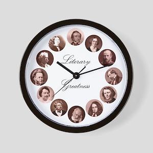 Literary Greatness Wall Clock