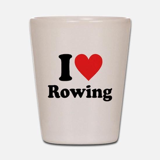 I Heart Rowing: Shot Glass