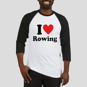 I Heart Rowing: Baseball Jersey