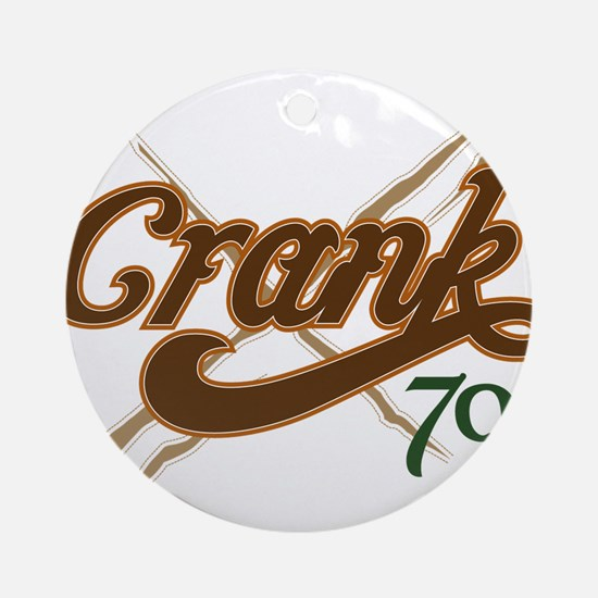 Cranked and Ripped Ornament (Round)