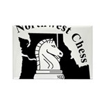 Northwest Chess Rectangle Magnet