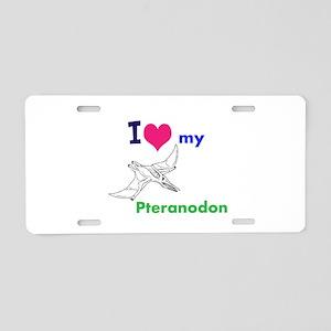 Pteranodon Aluminum License Plate