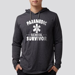 Paramedic School Survivor Funny  Mens Hooded Shirt