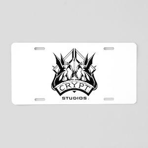 Crypt Studios Aluminum License Plate